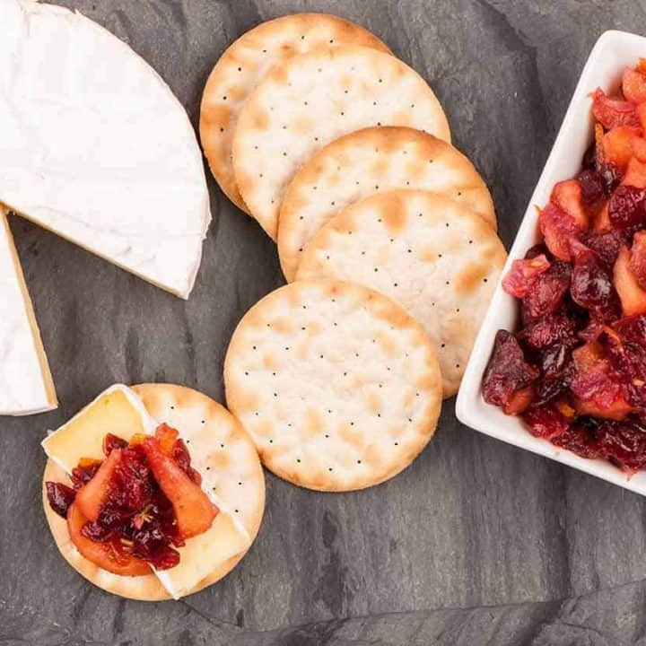 Apple Cranberry Chutney with Brie