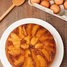 Apple-Gingerbread Upside Down Cake