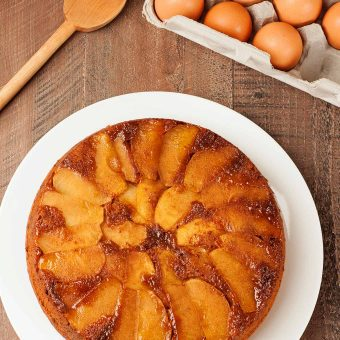 Apple Gingerbread Upside Down Cake