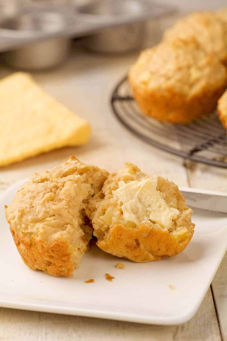 #applemuffins #oatmealmuffinsThis easy oatmeal muffin recipe combines quick-cooking oats, fresh diced apple, buttermilk and spices to make a low-fat, low-sugar breakfast treat.