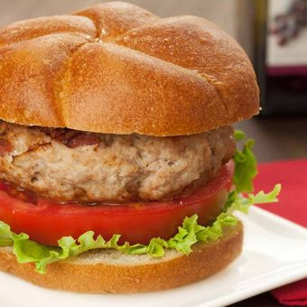 Asiago Turkey Burgers
