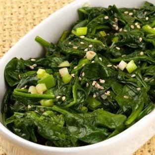 Asian-Style Sautéed Spinach