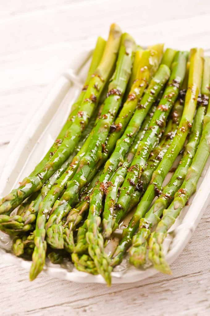Asparagus with Balsamic Brown Butter Sauce Recipe