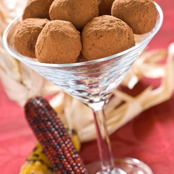 Autumn Spice Chocolate Truffles