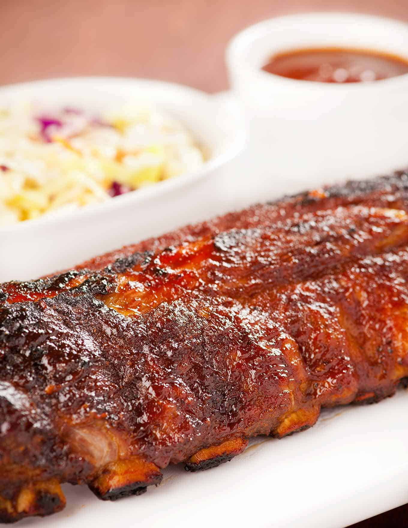 Baby Back Ribs with Whiskey BBQ Sauce
