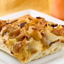 Bacon, Apple and Cider-Caramelized Onion Pizza