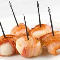 Bacon-Wrapped Scallop Rolls