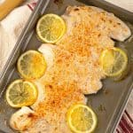 Oven Baked Fish with Caesar Topping