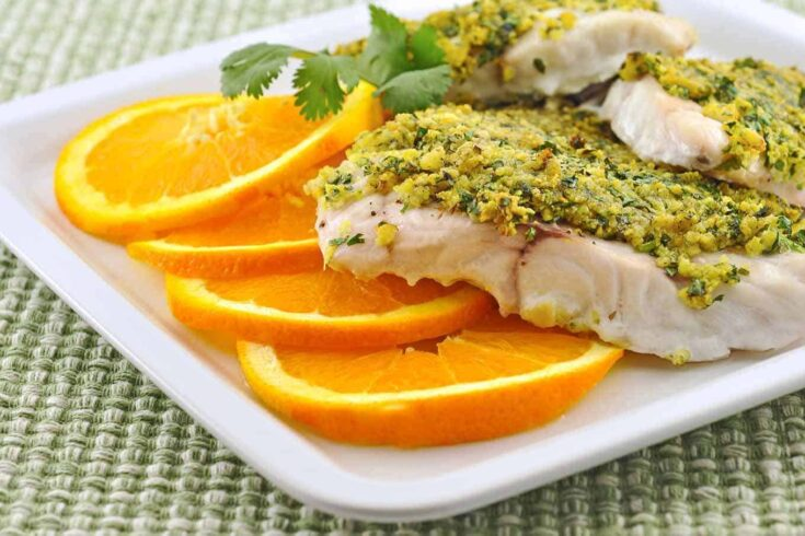 This is a simple recipe for baked grouper topped with a combo of buttery crumbs, fresh citrus zest, and cilantro. #bakedfish #grouper #crumbtopping