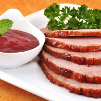 Baked Ham With Raspberry-Jalapeno Sauce