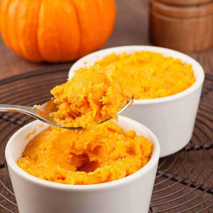 Baked Orange Sweet Potatoes in Ramekins