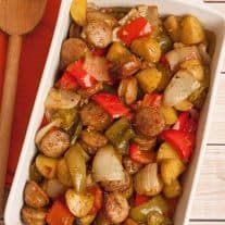 Balsamic-Roasted Sausage, Peppers and Potatoes