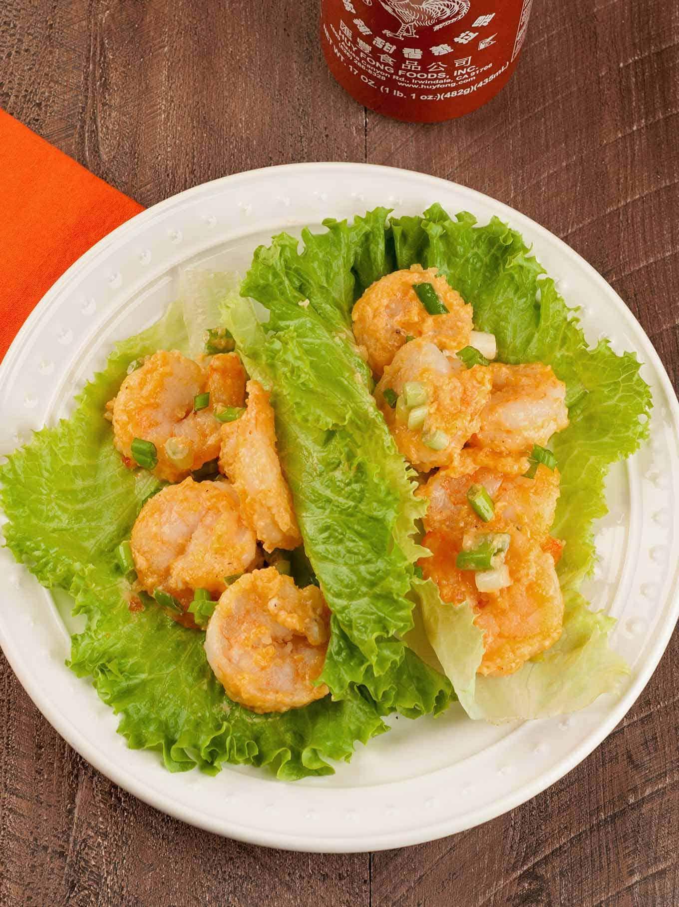 Bang Bang Shrimp Lettuce Wraps