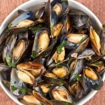 Belgian Ale-Braised Mussels