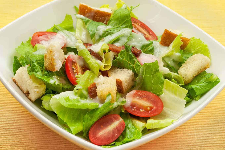 BLT Salad with Creamy Sweet Onion Dressing