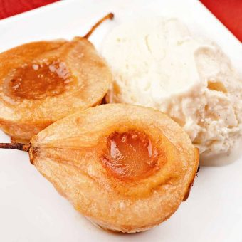 Bourbon-Baked Pears