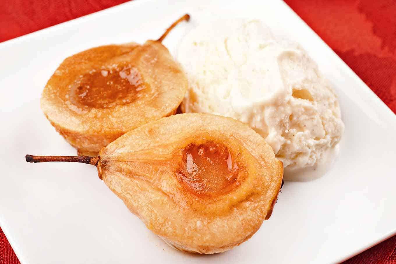 Bourbon-Baked Pears