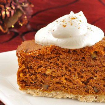 Bourbon-Laced Pumpkin Gingerbread Cake