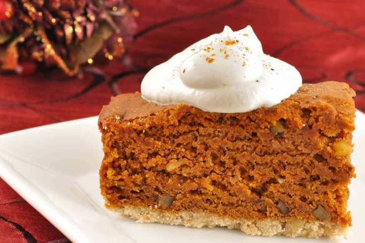 This easy-to-make pumpkin gingerbread cake is flavored with classic gingerbread spices and a splash of good Kentucky bourbon. #gingerbreadrecipe #gingerbreadcake
