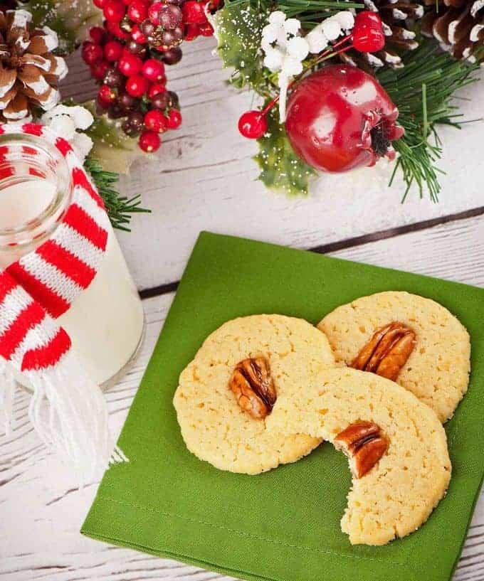 Bourbon Pecan Butter Cookies