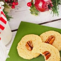 Bourbon Spiked Pecan Butter Cookies