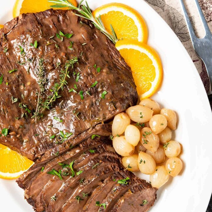 Red Wine and Orange Braised Brisket