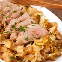 Braised Pork Tenderloin with Apples and Cabbage
