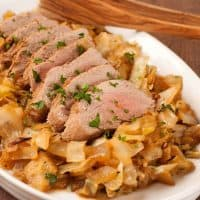 Braised Pork Tenderloin with Cabbage and Apples