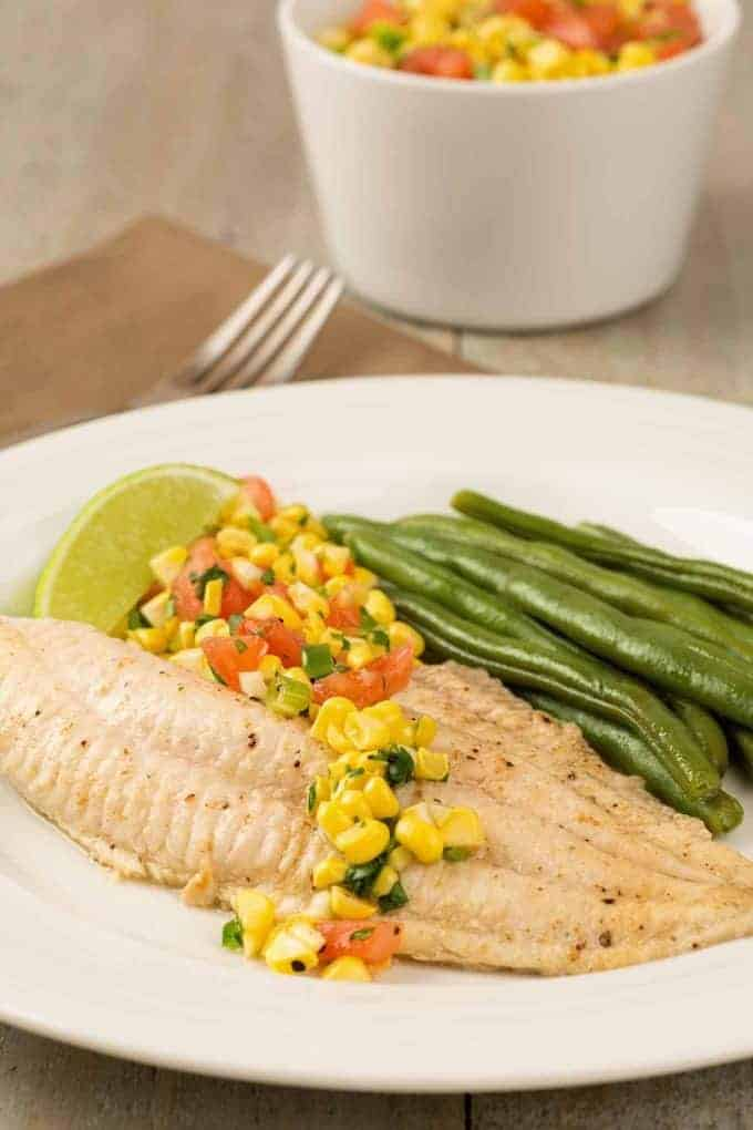 Broiled Catfish with Fresh Corn Tomato Salsa