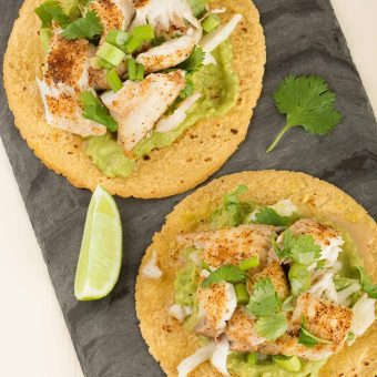 Broiled Fish Tostadas