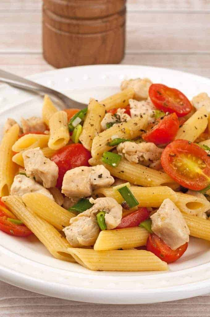 Buttery Penne with Chicken and Tomatoes