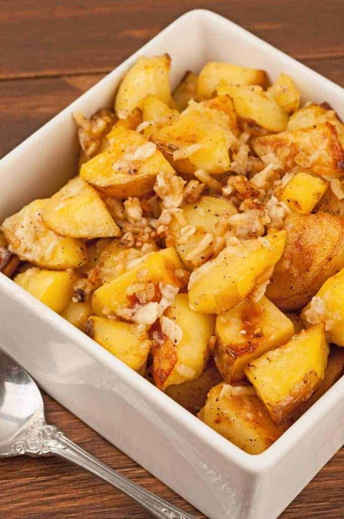 Cheesy Garlic Potatoes