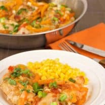 Cheesy Salsa Chicken Skillet