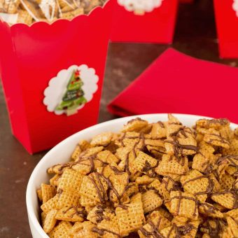 Chex Caramel Chocolate Drizzles