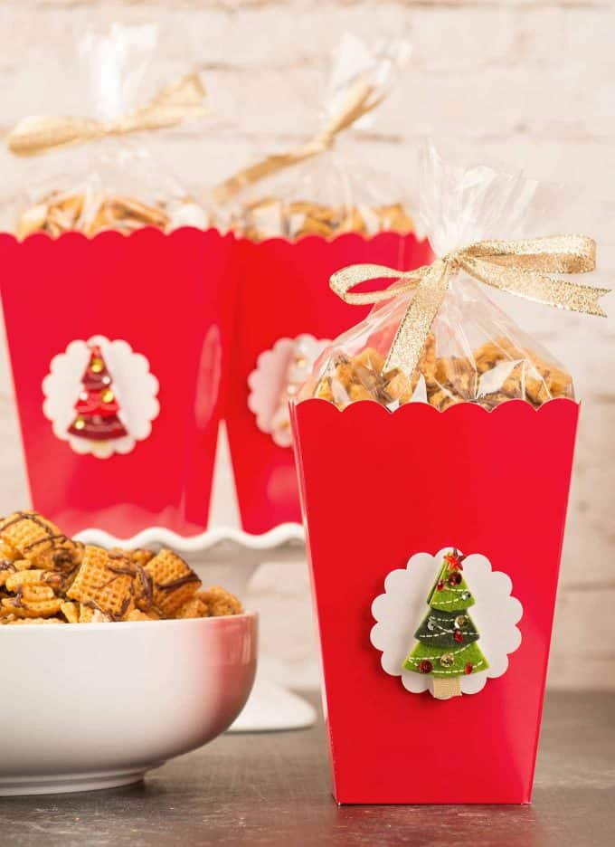 Chex Caramel Chocolate Drizzles Holiday Gifts