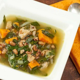 Chicken Soup with Collard Greens