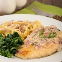 Chicken with Creamy Onion-Dill Sauce