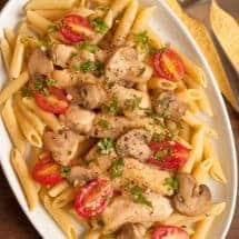 Chicken Marsala with Fresh Tomatoes