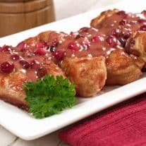 Chicken With Pomegranate-Ginger Cream Sauce
