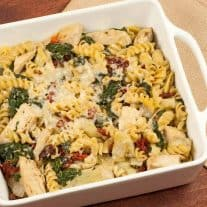 Chicken, Spinach and Artichoke Bake
