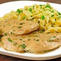 Chicken with Tarragon-Mustard Cream Sauce