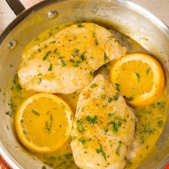 Chicken with Orange and Tarragon Pan Sauce