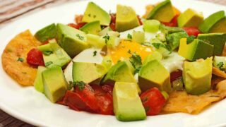Chilaquiles with Fresh Salsa and Avocado