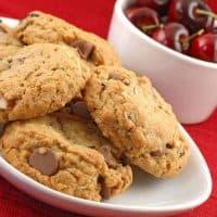 Chocolate Cherry Almond Oatmeal Cookies