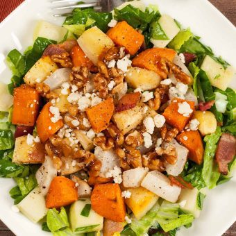 Chopped Salad with Roasted Root Vegetables and Bacon