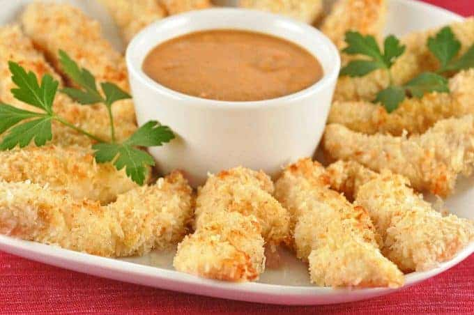 Coconut Chicken Fingers with Banana Ketchup
