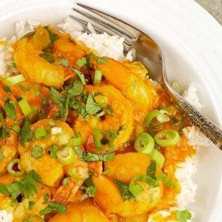 Easy Coconut Curry Shrimp