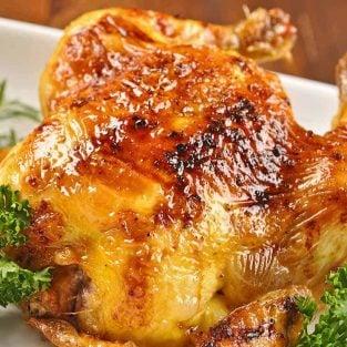 Cornish Game Hens with Bourbon Glaze