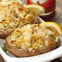 Crab Stuffed Portobello Mushrooms