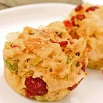 Cranberry Sourdough Stuffing Cups